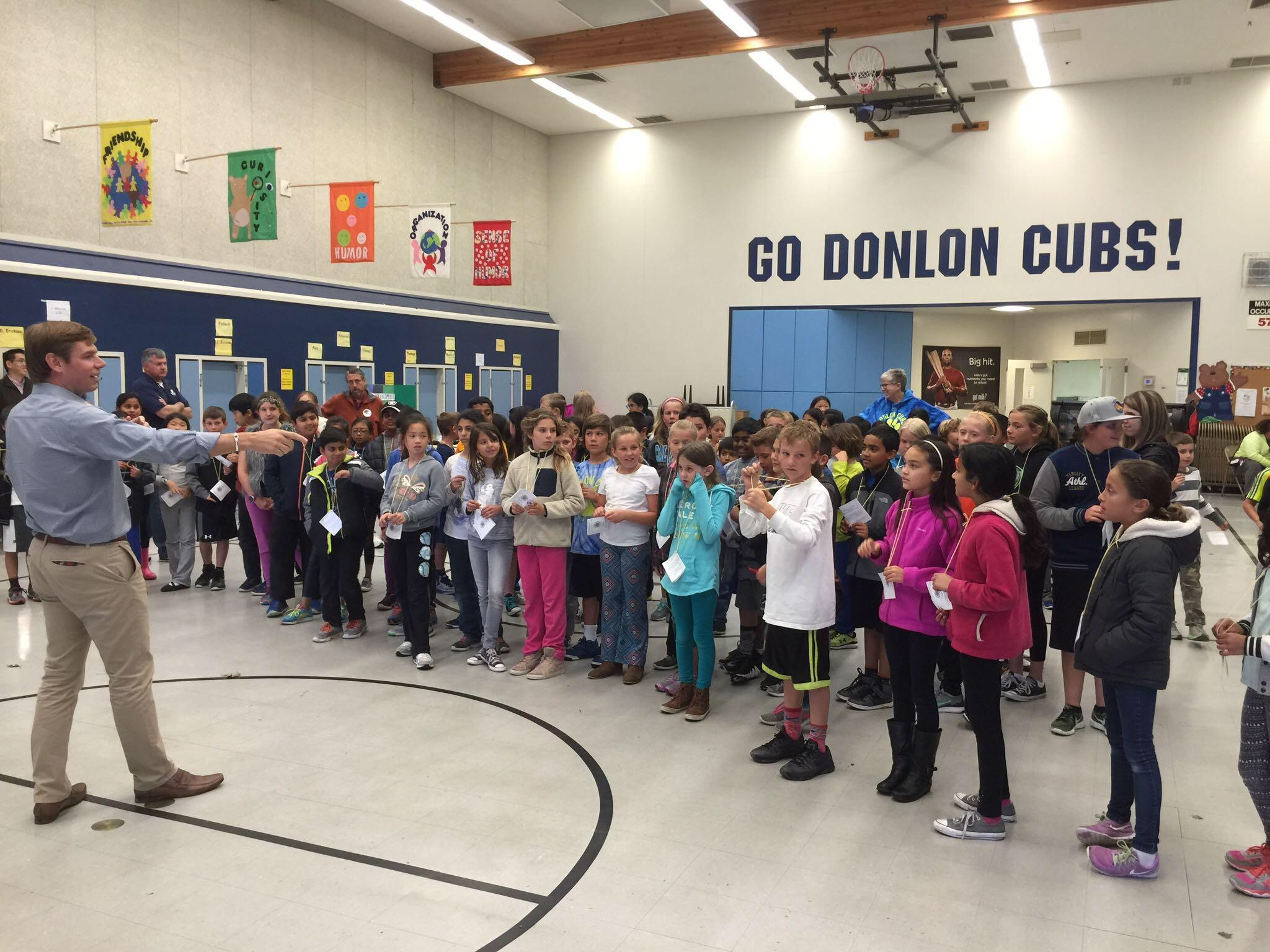 Rep. Swalwell at Donlon Elementary in Pleasanton, April 2016.