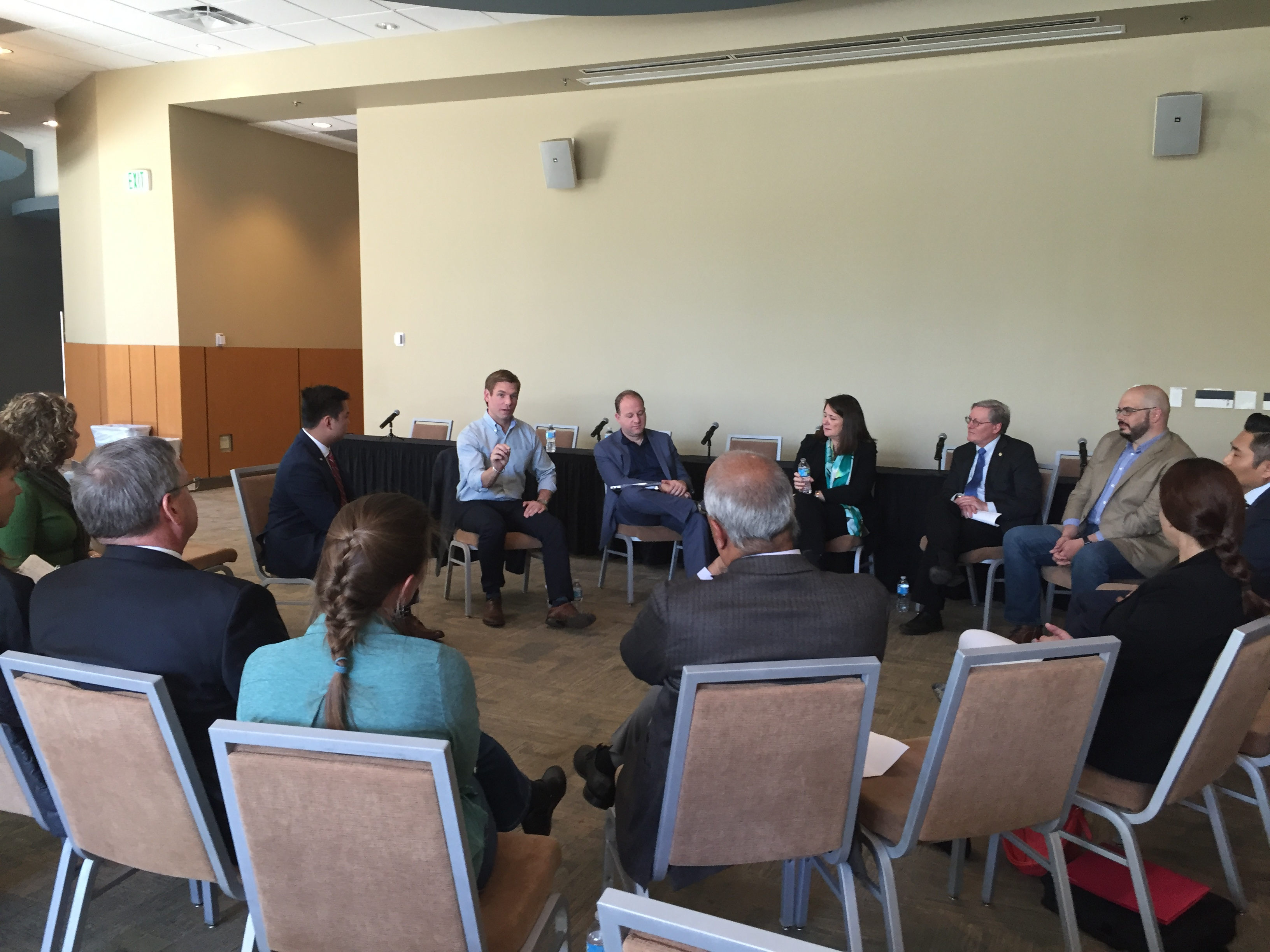 Rep. Swalwell holds Future Forum listening session at University of Colorado in Denver, April 2016.